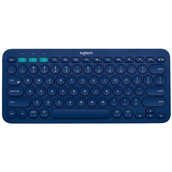 Logitech K380 Multi-Device Bluetooth Keyboard (Blue) (920-007559)