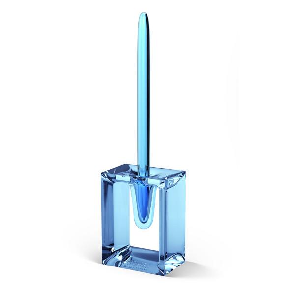 Lexon Aluminum Ballpoint Pen with Blue Transparent Base