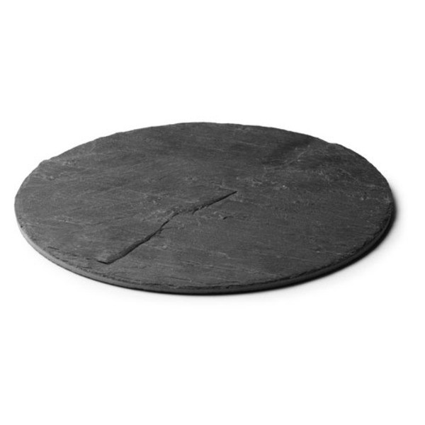Menu New Norm Plate, 8.5-Inch, Natural Slate, Set of 6