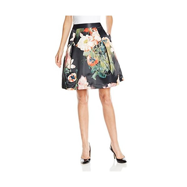 Ted Baker Women's Paladia Opulent Bloom Full Skirt, Black, 2