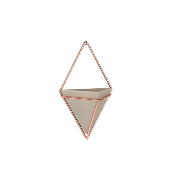 Umbra Trigg Wall Vessel, Small, Set of 2, Concrete/Copper