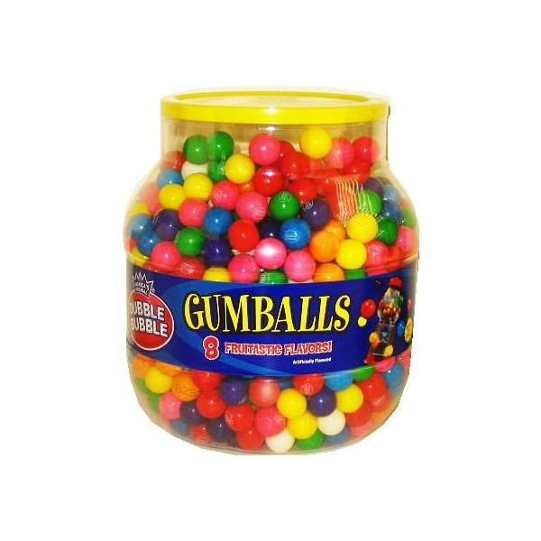 Dubble Bubble Gumball Refill 53oz Jar