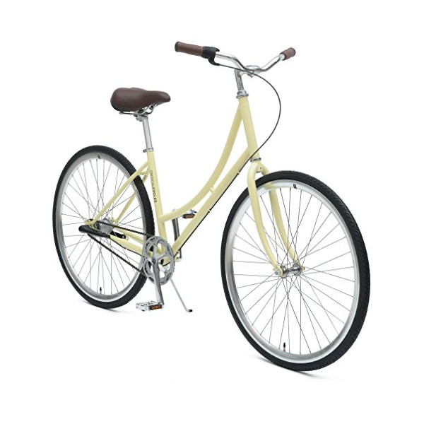 Critical Cycles Dutch Step-Thru 3-Speed City Coaster Commuter Bicycle, Cream, 44cm/One Size