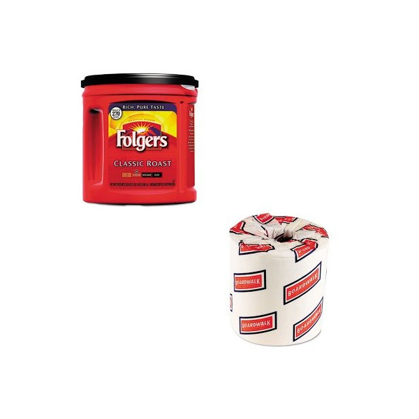 KITBWK6180FOL00367CT - Value Kit - Folgers Coffee (FOL00367CT) and White 2-Ply Toilet Tissue, 4.5quot; x 3quot; Sheet Size (BWK6180)