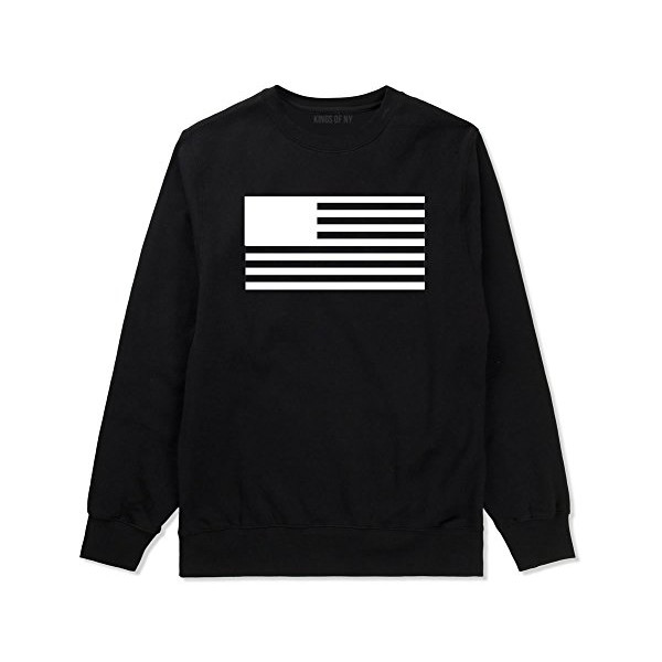 Kings of NY Black Flag USA Crewneck Sweatshirt, Black