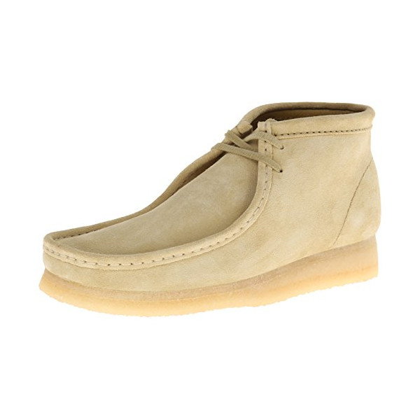Clarks Men's Wallabee B Chukka Boot,Maple Tan Suede,10.5 M US
