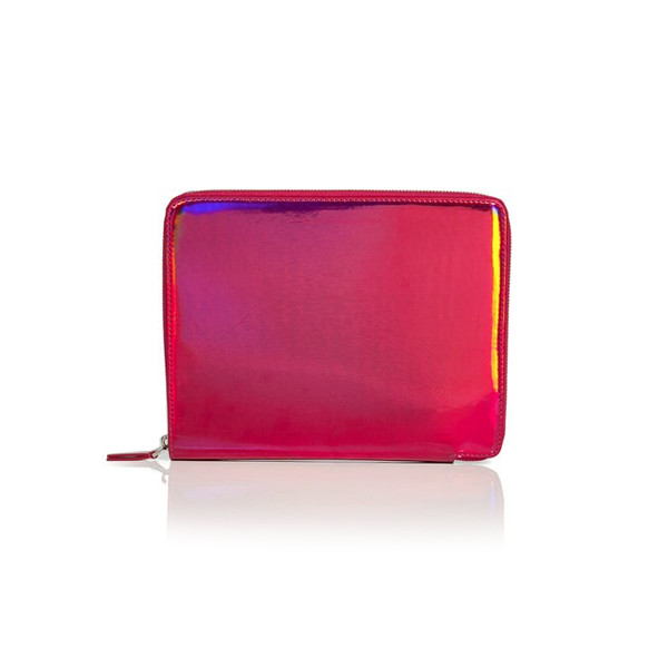Marc Jacobs Techno Tablet Book Case Rose Holographic