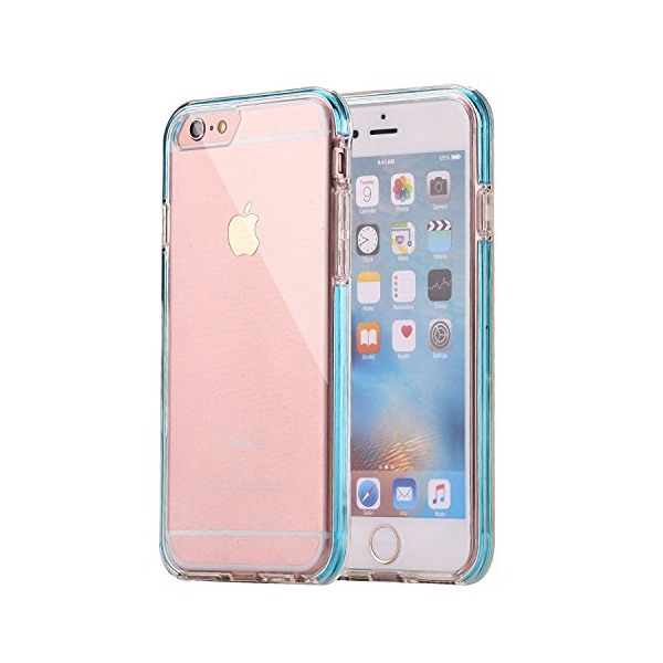 iPhone 6s Plus Case, INNAPER® Scratch-Resistant Clear Back and Shock-Absorption Soft case, Reinforced frame special embedded in PC Bumper for Apple iPhone 6 Plus (2014) / 6S Plus (2015) - z-Blue