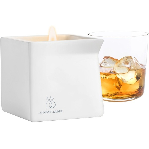 Jimmyjane Massage Oil Candle, Bourbon