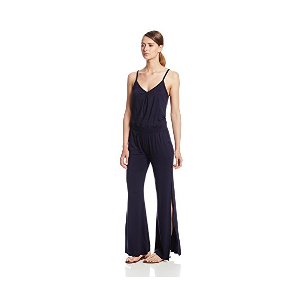 Trina Turk Women's Adriana Must Have Jersey Jumpsuit, Midnight, Large