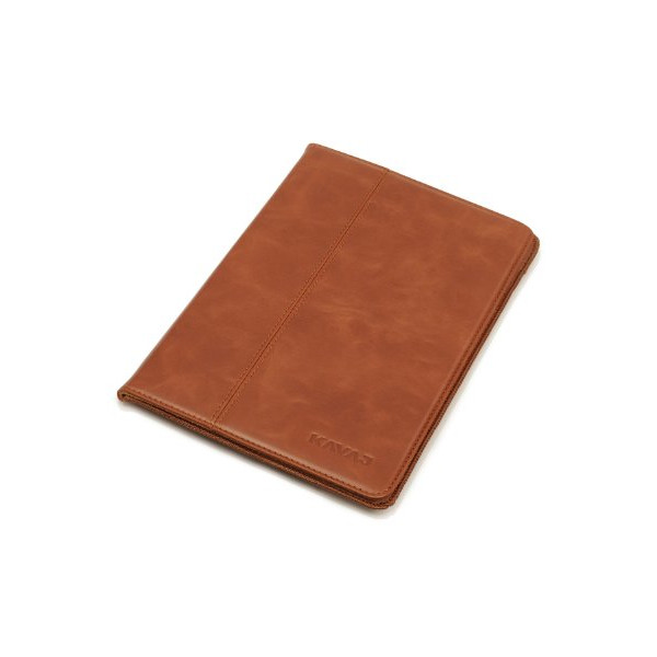 "KAVAJ leather case cover ""Berlin"" for the new Apple iPad Mini 3, iPad mini 2 (Retina Display) and iPad mini cognac brown - genuine leather with stand-up feature. Thin Smart Cover as premium accessory for the original Apple iPad mini"
