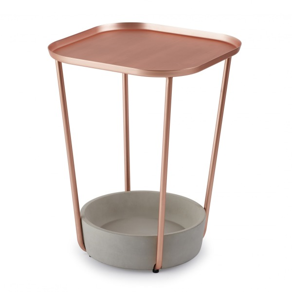 Umbra Tavalo Side Table, Copper/Concrete
