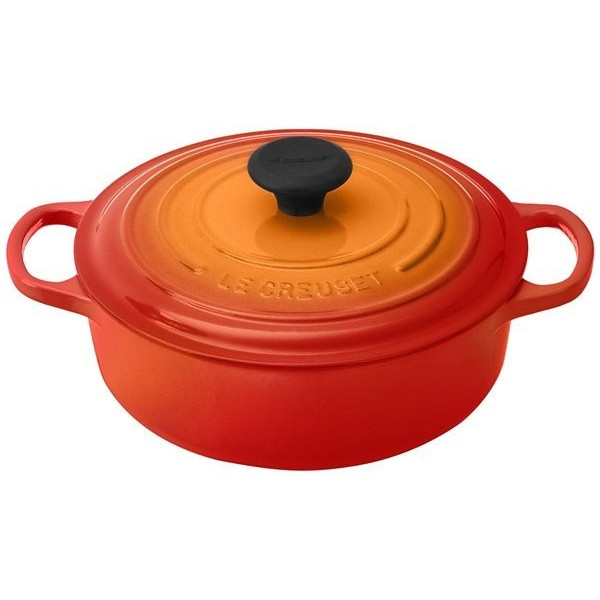 Le Creuset Signature Round Wide Dutch Oven, Flame