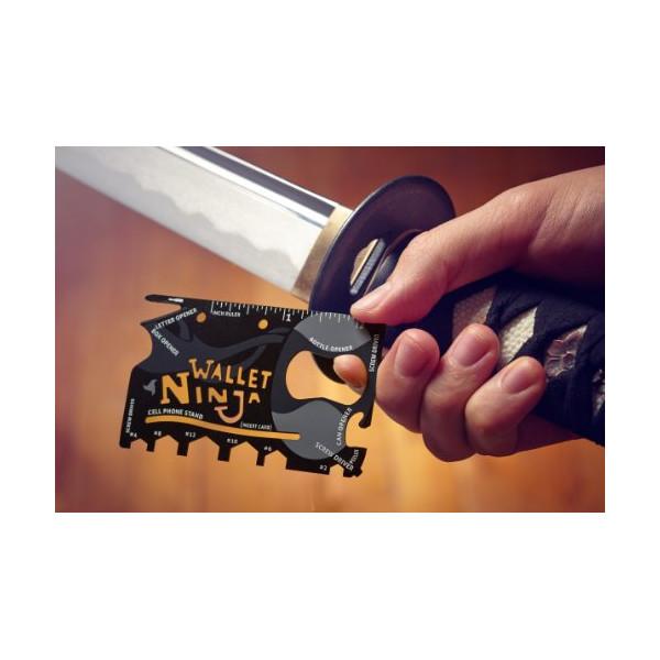 Wallet Ninja 18 in 1 Multi-purpose Credit Card Size Pocket Tool
