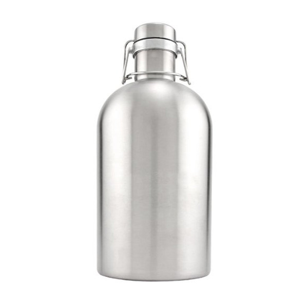 Kegworks Stainless Steel Beer Growler, 64oz