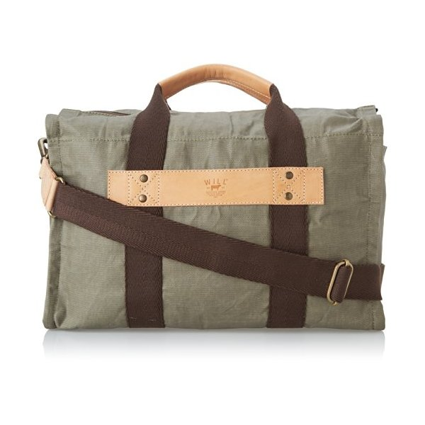 Will Leather Goods Men's Waxed Canvas Duffle, Olive, One Size