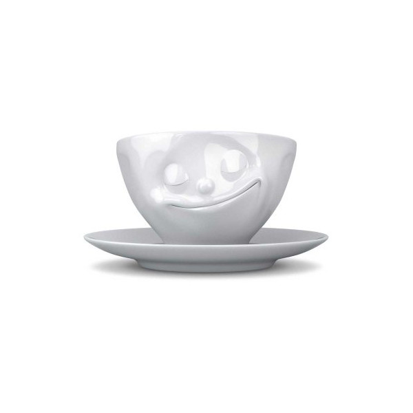 Tassen Face Coffee Cup with Saucer (Happy)