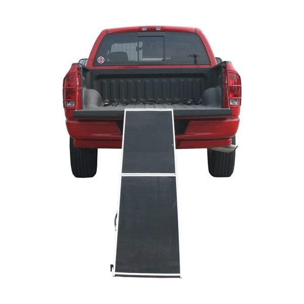"96"" Lightweight Extra Wide Folding Aluminum Pet Ramp"