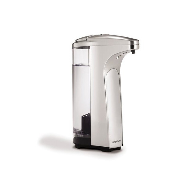 simplehuman Sensor Pump for Soap or Sanitizer, 13-Ounce, Brushed Nickel