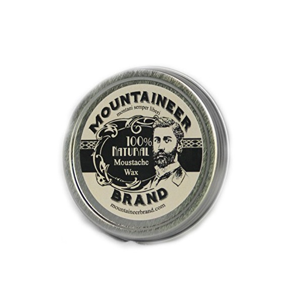 Mountaineer Brand 100% Natural Mustache Wax 2 Oz. TWICE THE SIZE OF MOST