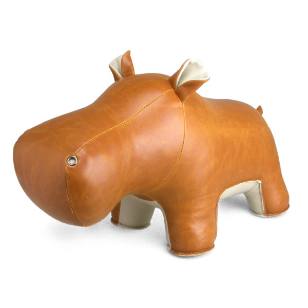 Zuny Series Hippo (Budy) Tan Animal Bookend