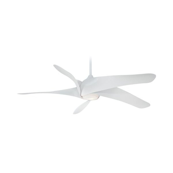 Minka-Aire F905-WH Minka Aire One Light Ceiling Fan, White