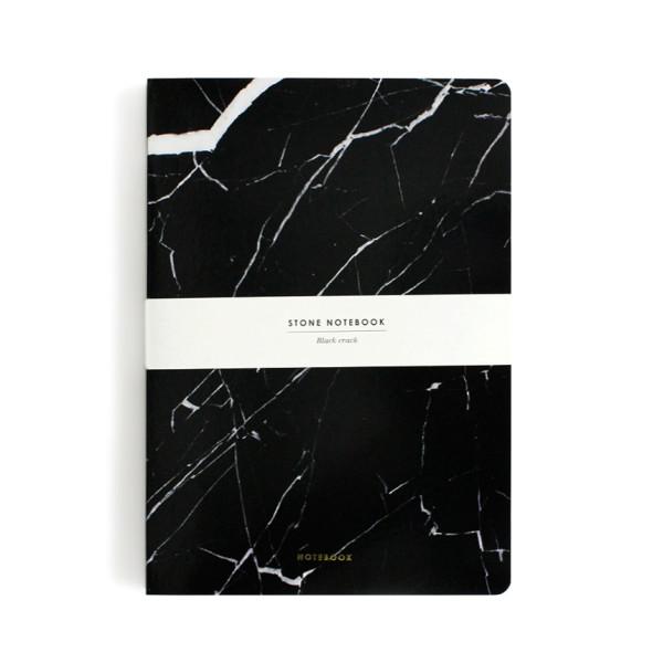 Dearmaison Hardcover Notebook, Black Marble