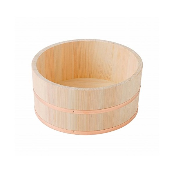Hinoki Oke Pure Wood Bathtub Large Bucket DIA 240mm