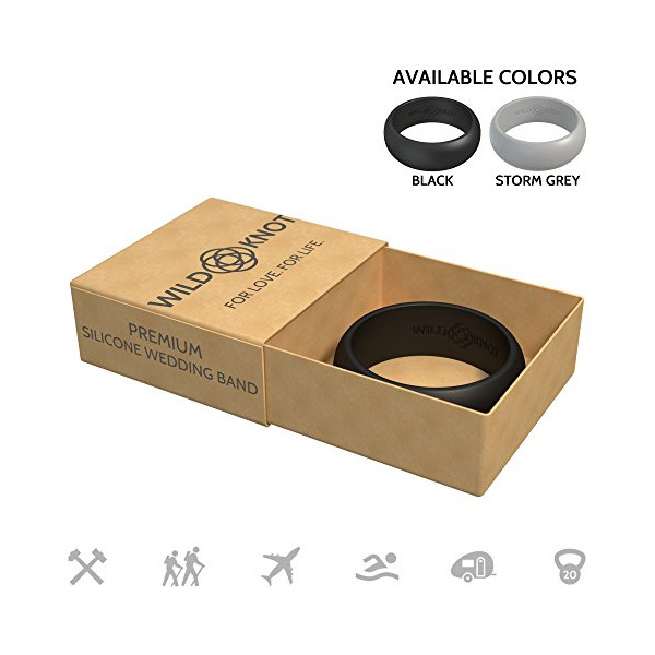 Silicone Wedding Rings for Men - High Performance Rubber Wedding Bands - Safe, comfortable, stylish, strong - Multiple ring colors & sizes for hard-working hands, athletes, travelers & adventurers