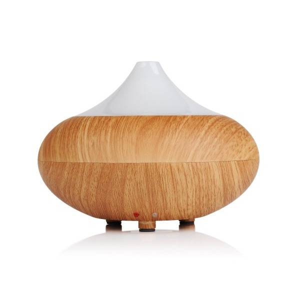 VicTsing® Electric Aromatherapy Essential oil Diffuser Cool Mist Humidifier with Color LED light and Auto off - Light Brown