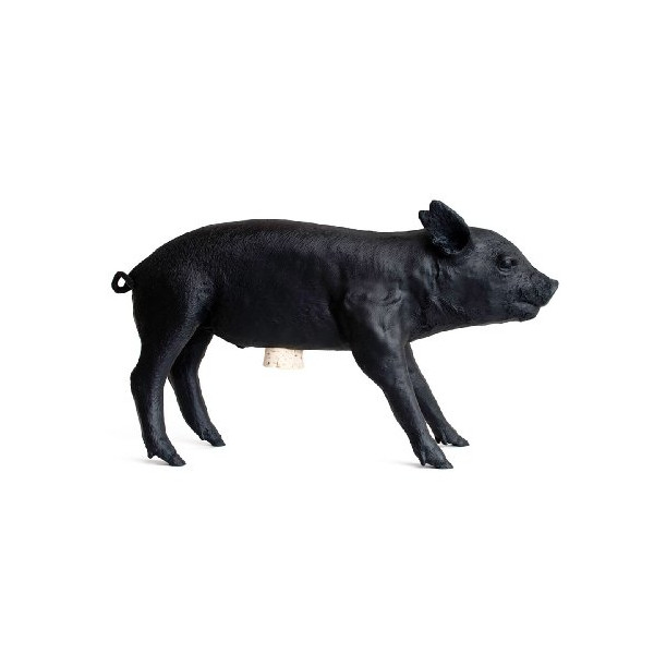 Areaware Bank in The Form of a Pig, Matte Black