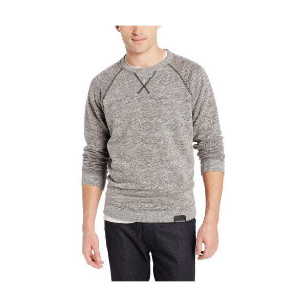 Diesel Men's Serge Sweater, Dark Charcoal, X-Large