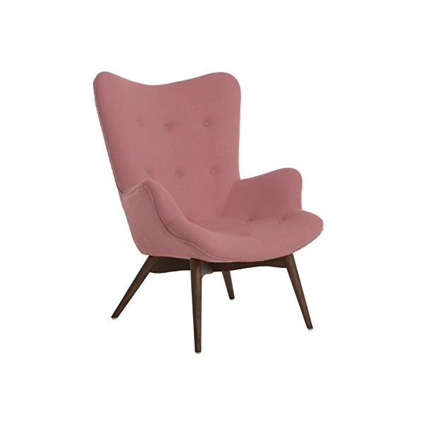 Aarhus Mid Century Soft Pink Lounge Chair