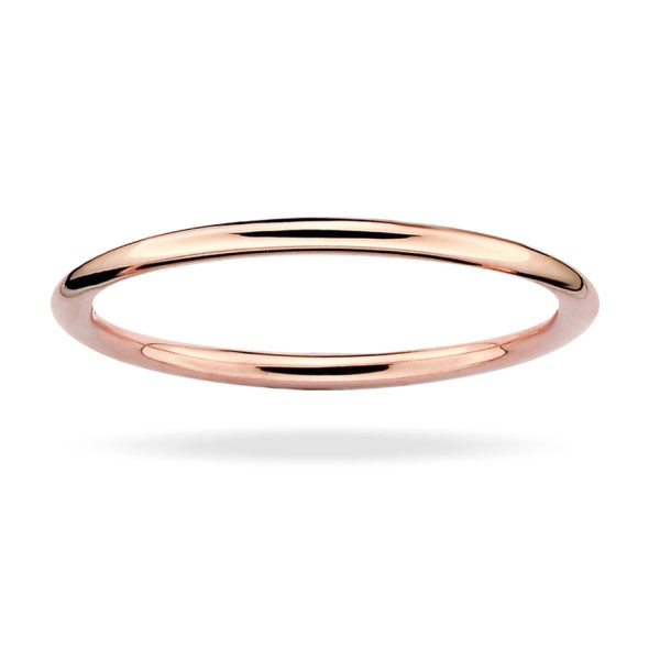 18K Rose Gold Plated Stackable Ring, 1.5mm
