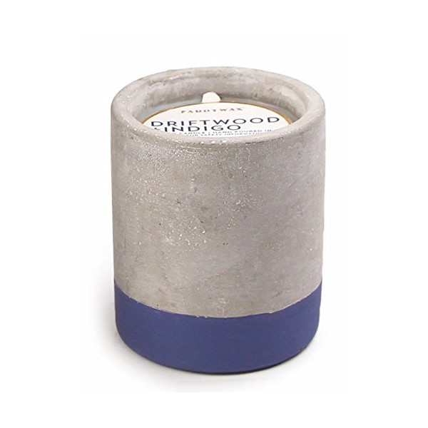 Paddywax Urban Collection Soy Wax Candle In Concrete Pot, Driftwood & Indigo