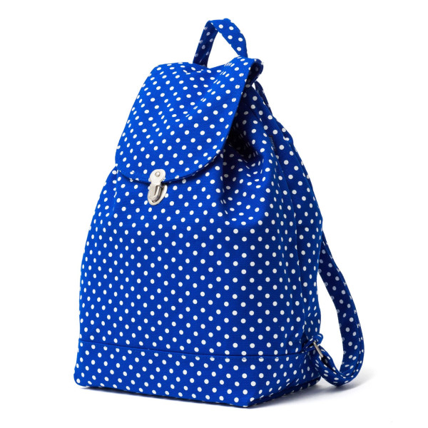 Baggu Canvas Backpack, Blue Dot