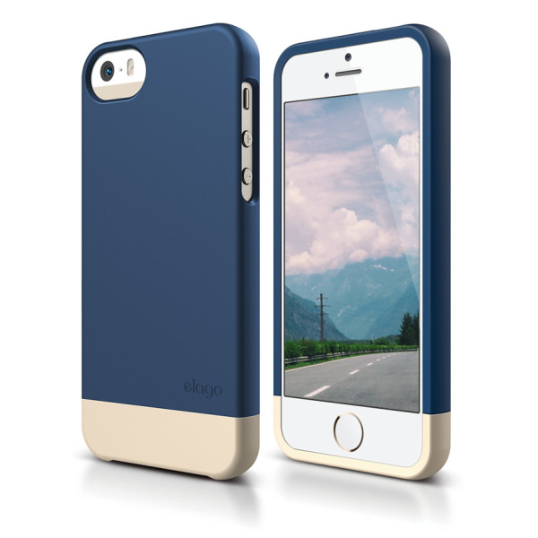 Elago iPhone 5S Case, Jean Indigo & Champagne Gold