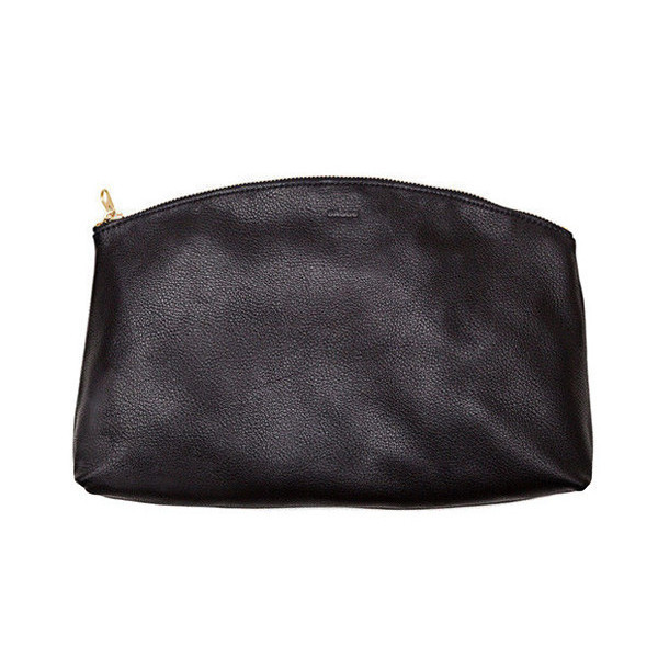 BAGGU Leather Small Clutch - Black