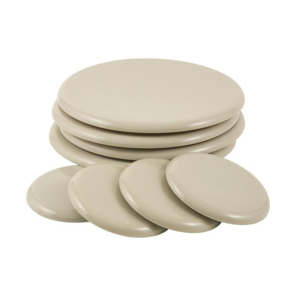 Waxman 7030 Reusable Round Super Sliders, Oatmeal, 7-Inch
