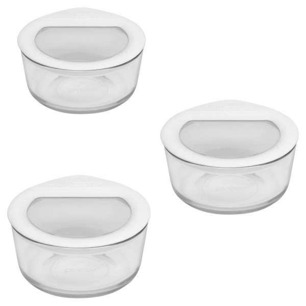Pyrex 6 Piece No-Leak Food Storage Set, Clear