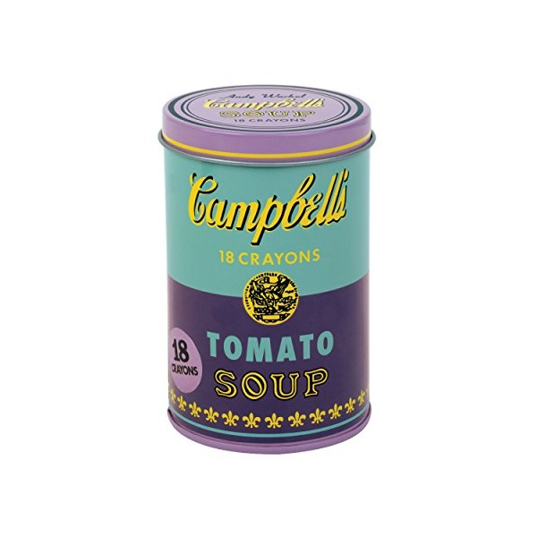 Mudpuppy Andy Warhol Soup Can Crayons, Purple
