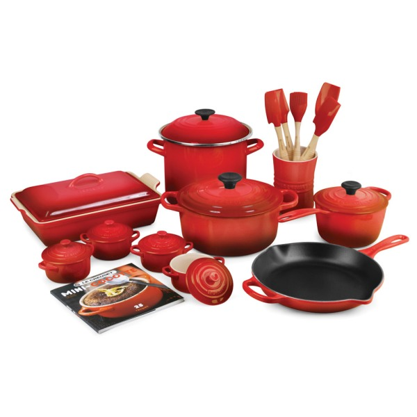 Le Creuset Flame 20-piece Cookware Set