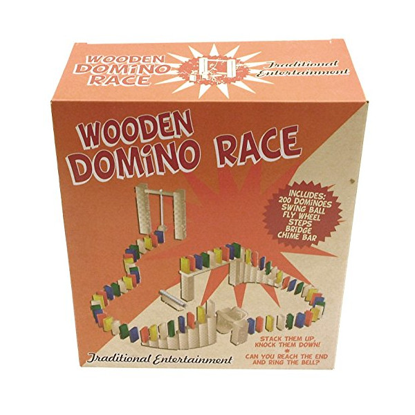 Traditional Wooden Domino Rally or Race Kit