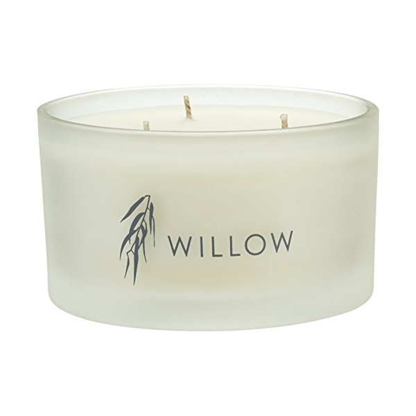 Willow Organic Beauty 3-Wick Candle, Jasmine & Geranium 390 g