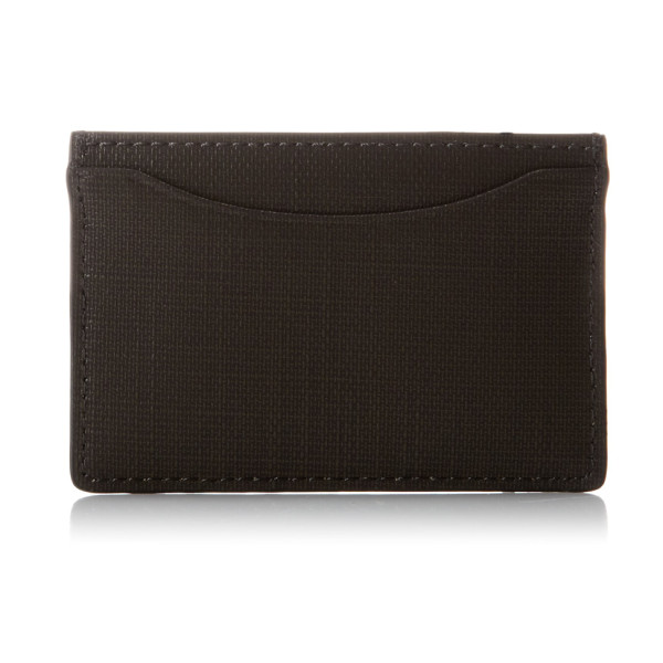 Jack Spade Reed Leather Cc Holder, Dark Chocolate