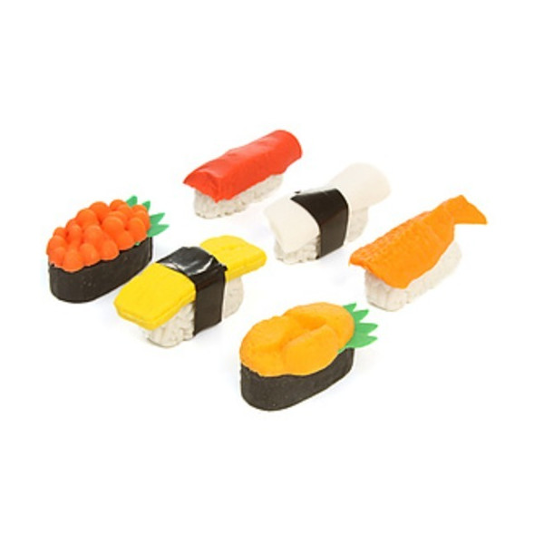 DCI Sushi Erasers, Set of 6