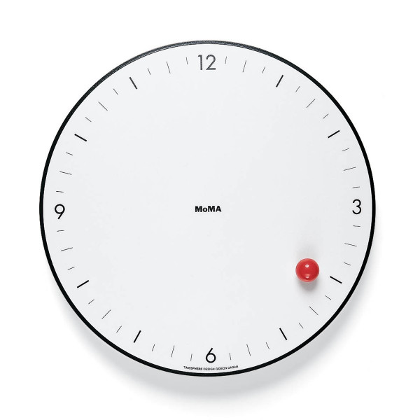 Moma Timesphere Clock White