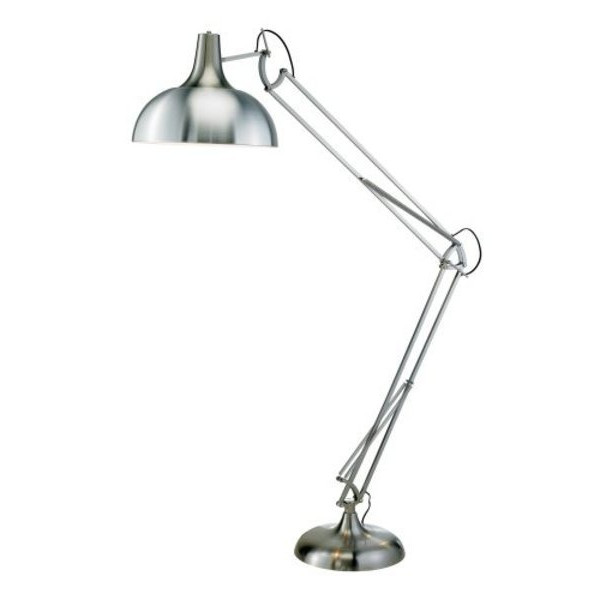 Adesso Atlas Floor Lamp, Satin Steel