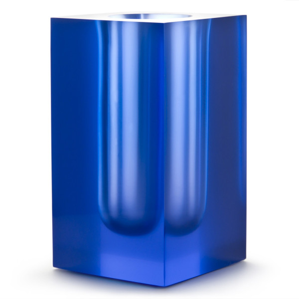 Jonathan Adler, Blue Bel Air Test Tube Vase, Lucite