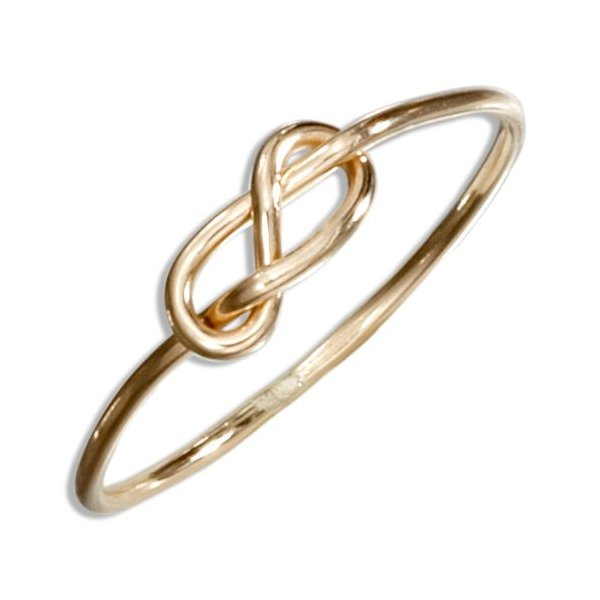 12 Karat Gold Filled Wire Infinity Knot Ring (size 07)